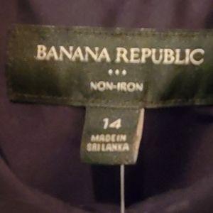 *new* banana republic button down long sleeve